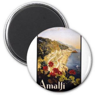 Vintage Travel Amalfi Italy Magnet