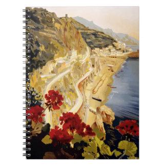 Vintage Travel Amalfi Italy Notebooks