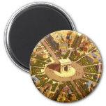 Vintage Travel, Arc de Triomphe Paris France 6 Cm Round Magnet