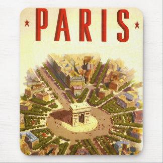 Vintage Travel, Arc de Triomphe Paris France Mouse Pads