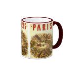 Vintage Travel, Arc de Triomphe Paris France Ringer Mug