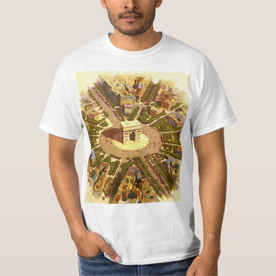 Vintage Travel, Arc de Triomphe Paris France T-Shirt