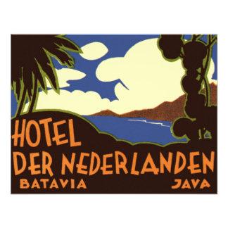 Vintage Travel Asia Jakarta Indonesia Invitations