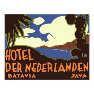 Vintage Travel Asia, Jakarta Indonesia 11 Cm X 14 Cm Invitation Card