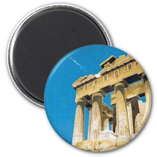Vintage Travel Athens Greece Parthenon Temple Magnet