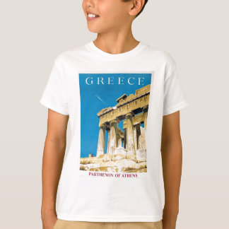 Vintage Travel Athens Greece Parthenon Temple T-Shirt