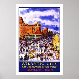Vintage travel,Atlantic City Poster