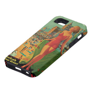 Vintage Travel; Atlantic City Resort, Beach Blonde iPhone 5 Covers