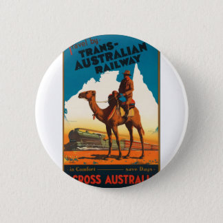 Vintage Travel Australia 6 Cm Round Badge