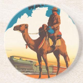 Vintage Travel Australia Coaster