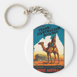 Vintage Travel Australia Key Ring