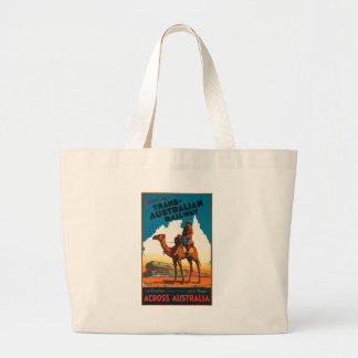 Vintage Travel Australia Large Tote Bag
