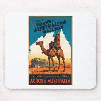 Vintage Travel Australia Mouse Pad