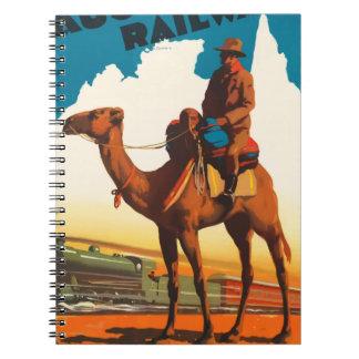 Vintage Travel Australia Spiral Notebook