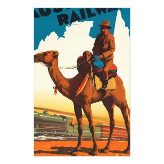 Vintage Travel Australia Stationery