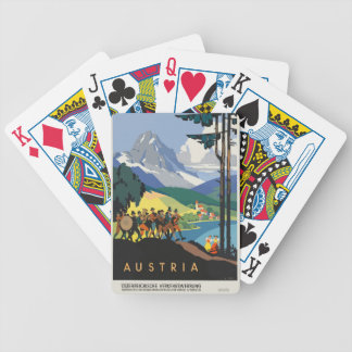 Vintage Travel Austria Bicycle Playing Cards