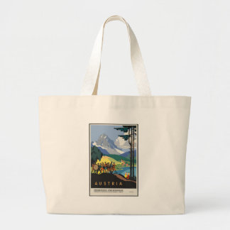 Vintage Travel Austria Large Tote Bag