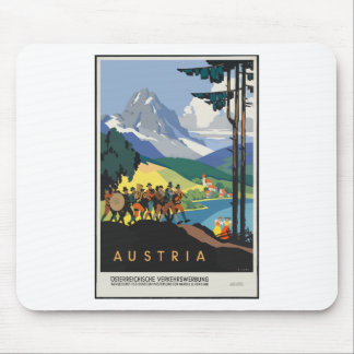 Vintage Travel Austria Mouse Pad