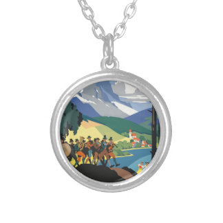 Vintage Travel Austria Silver Plated Necklace