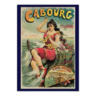 Vintage Travel, Beach Resort, Cabourg France Invite