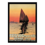 Vintage Travel, Boats at Excelsior Palace Venice Announcements