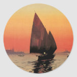 Vintage Travel, Boats at Excelsior Palace Venice Stickers