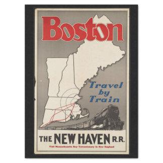 Vintage Travel Boston New Haven Railroad Train Tissue Paper