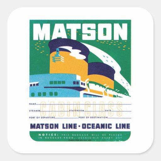 Vintage Travel by Ship Label Art Sticker