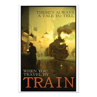 Vintage Travel By Train Kodak Photo Enlargement