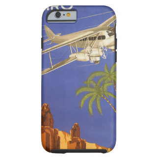 Vintage Travel Cairo Egypt Africa Airplane Tough iPhone 6 Case
