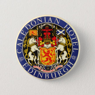 Vintage Travel Caledonian Hotel Edinburgh Scotland 6 Cm Round Badge