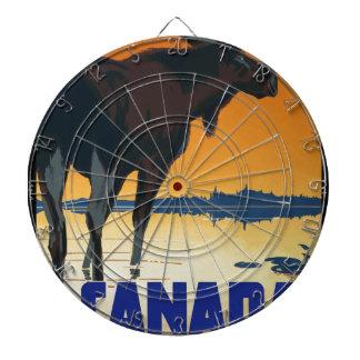 Vintage Travel Canada Dartboard