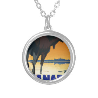 Vintage Travel Canada Silver Plated Necklace