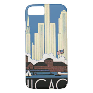 Vintage Travel Chicago Has Everything City Skyline iPhone 8/7 Case