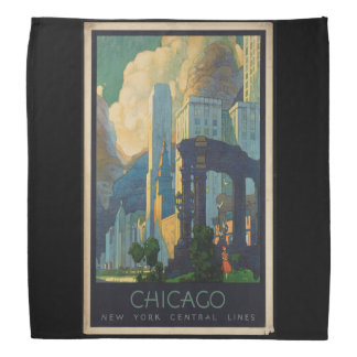 Vintage Travel Chicago to New York Central Lines Bandana