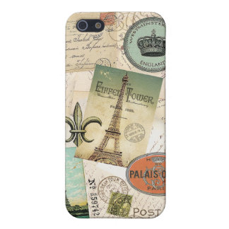 Vintage Travel collage iphone5 case