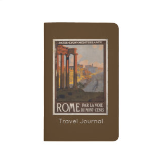 Vintage Travel Design with Roman Forum in View Journal