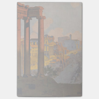 Vintage Travel Design with Roman Forum in View Post-it® Notes