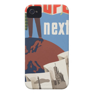 Vintage Travel Europe iPhone 4 Case-Mate Cases
