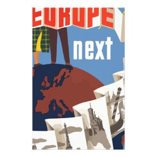 Vintage Travel Europe Stationery