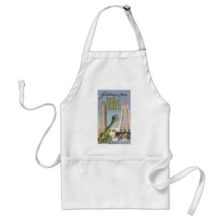 Vintage Travel, Famous New York City Landmarks Aprons