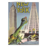 Vintage Travel, Famous New York City Landmarks Greeting Card
