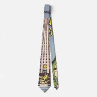 Vintage Travel, Famous New York City Landmarks Tie