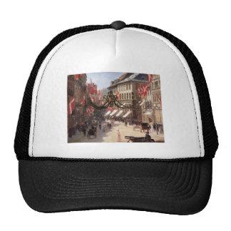 Vintage Travel Flag Day Denmark Mesh Hat
