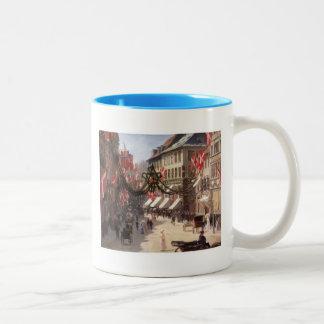Vintage Travel Flag Day Denmark Coffee Mug