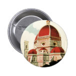 Vintage Travel Florence Firenze Italy Church Duomo 6 Cm Round Badge