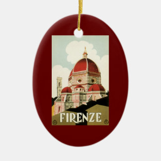 Vintage Travel Florence Firenze Italy Church Duomo Christmas Tree Ornaments