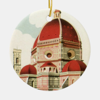 Vintage Travel Florence Firenze Italy Church Duomo Ornaments