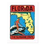 Vintage Travel Florida FL State Label