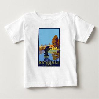 Vintage Travel Fontainebleau Paris France Baby T-Shirt